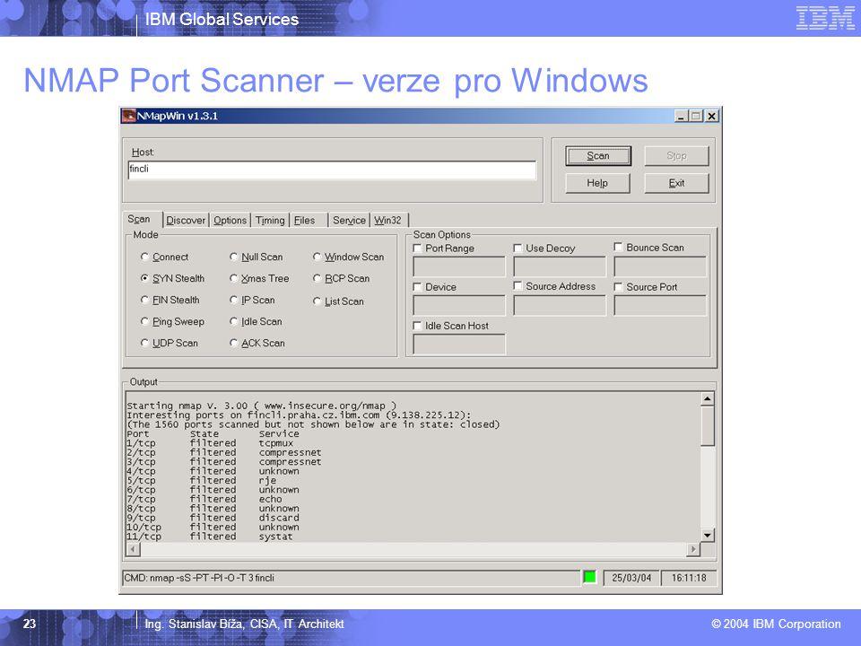 NMAP Port Scanner – verze pro Windows