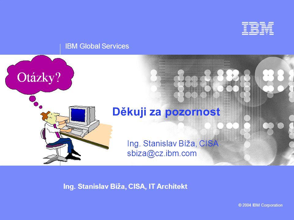 Ing. Stanislav Bíža, CISA sbiza@cz.ibm.com