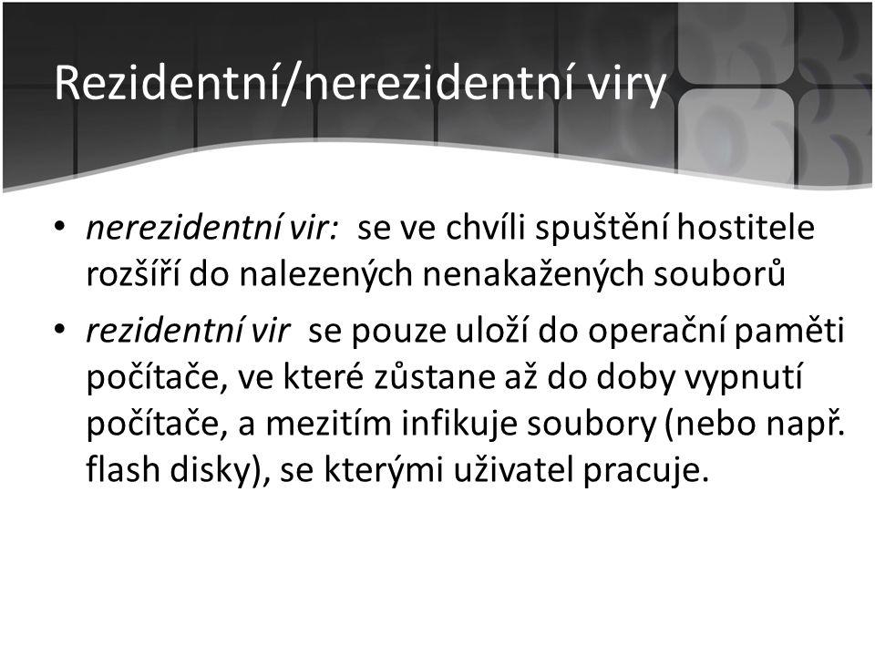 Rezidentní/nerezidentní viry