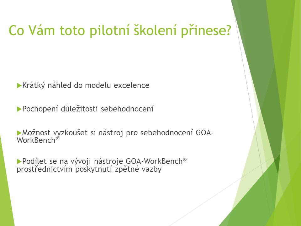 Co Vám toto pilotní školení přinese