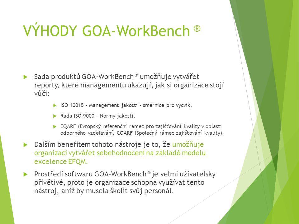 VÝHODY GOA-WorkBench ®