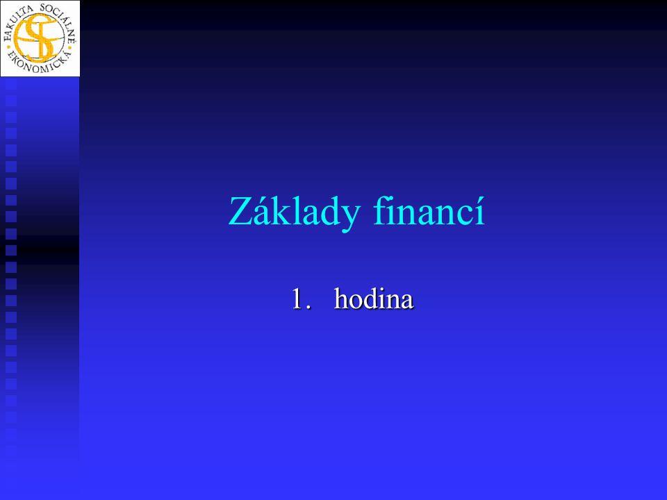 Základy financí hodina
