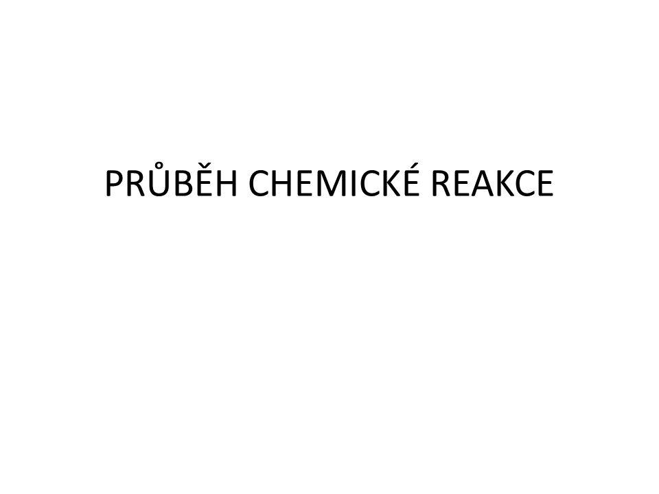 PRŮBĚH CHEMICKÉ REAKCE