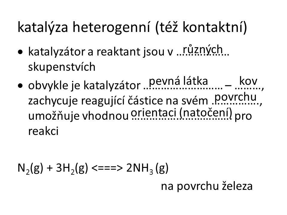 katalýza heterogenní (též kontaktní)