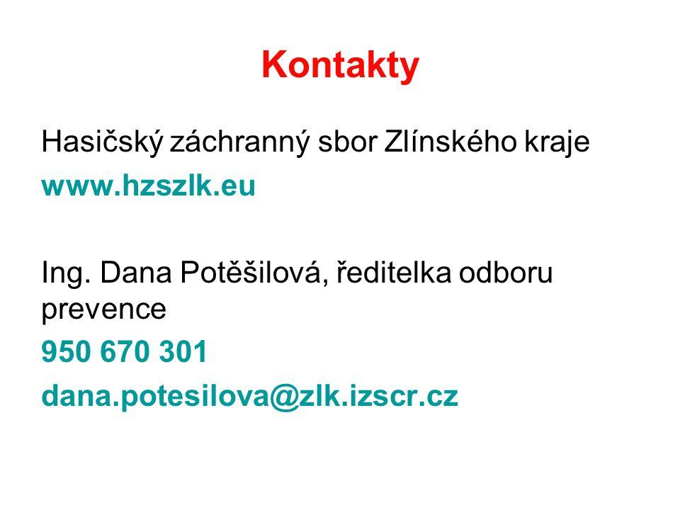 Kontakty Hasičský záchranný sbor Zlínského kraje www.hzszlk.eu