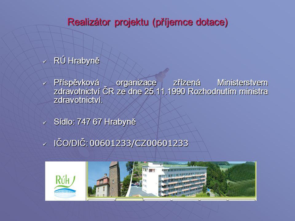 Realizátor projektu (příjemce dotace)