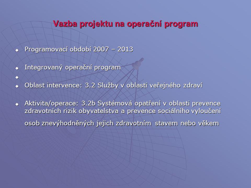 Vazba projektu na operační program