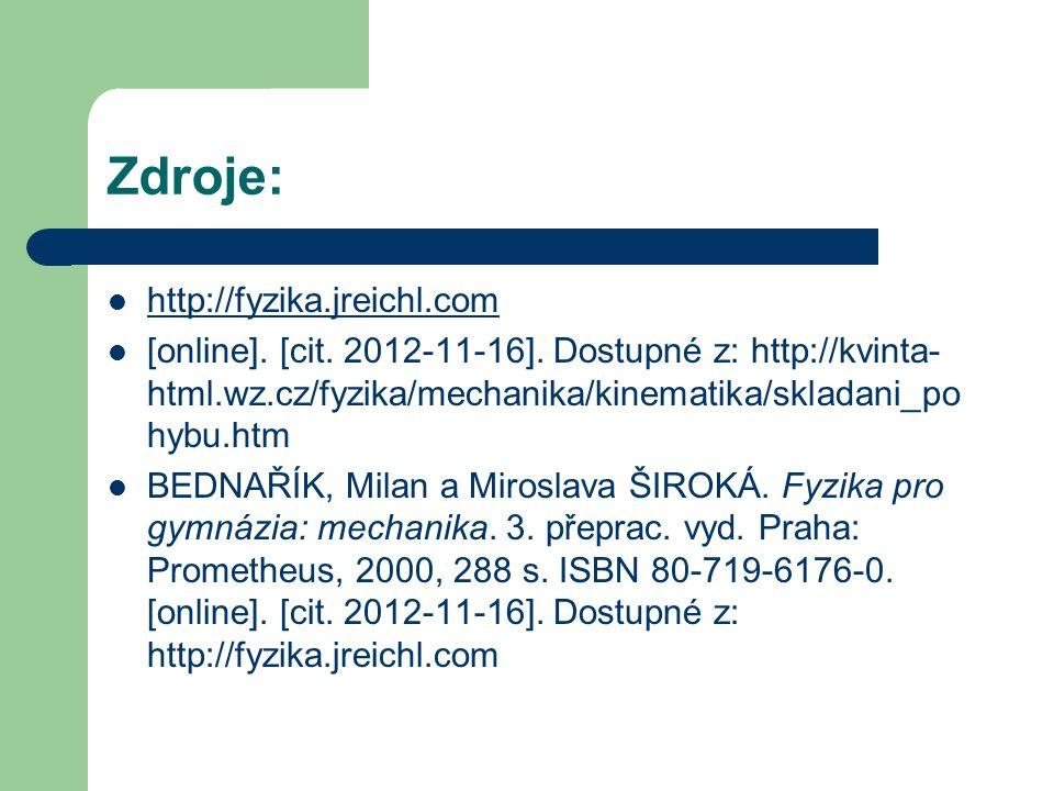 Zdroje: http://fyzika.jreichl.com