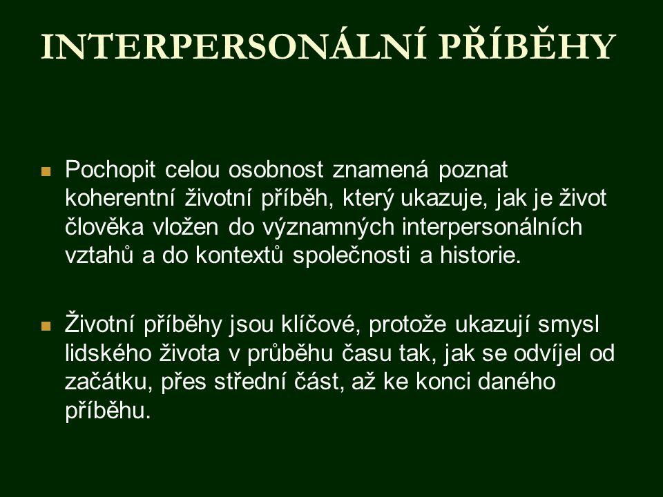 INTERPERSONÁLNÍ PŘÍBĚHY