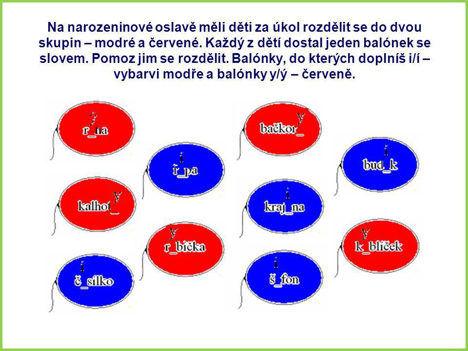 Na narozeninové oslavě měli děti za úkol rozdělit se do dvou skupin – modré a červené.