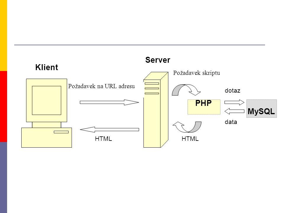 Server Klient PHP MySQL