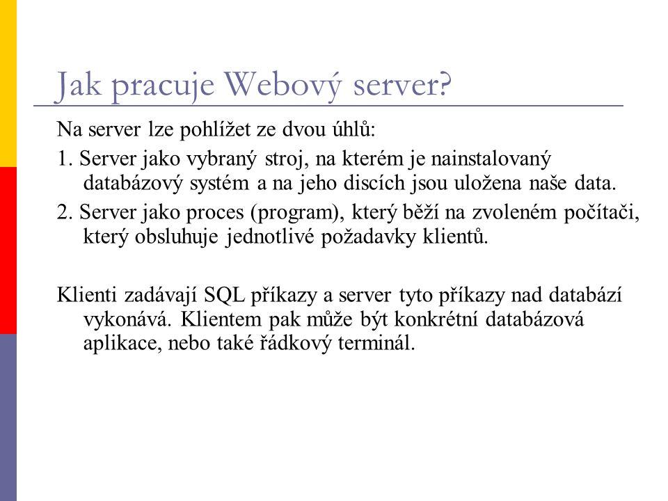 Jak pracuje Webový server