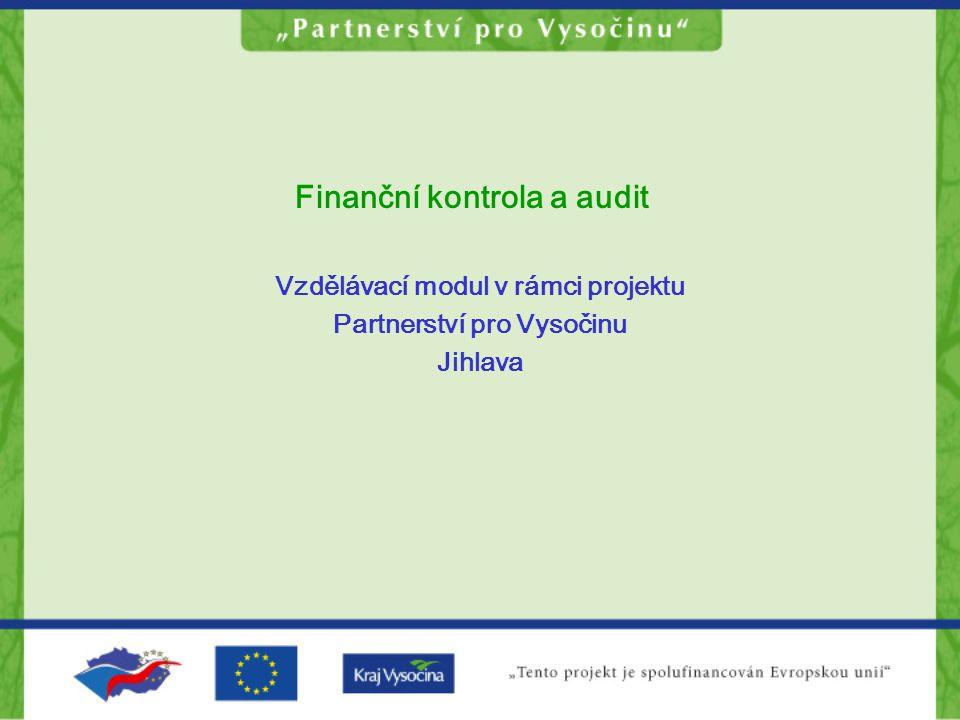 Finanční kontrola a audit