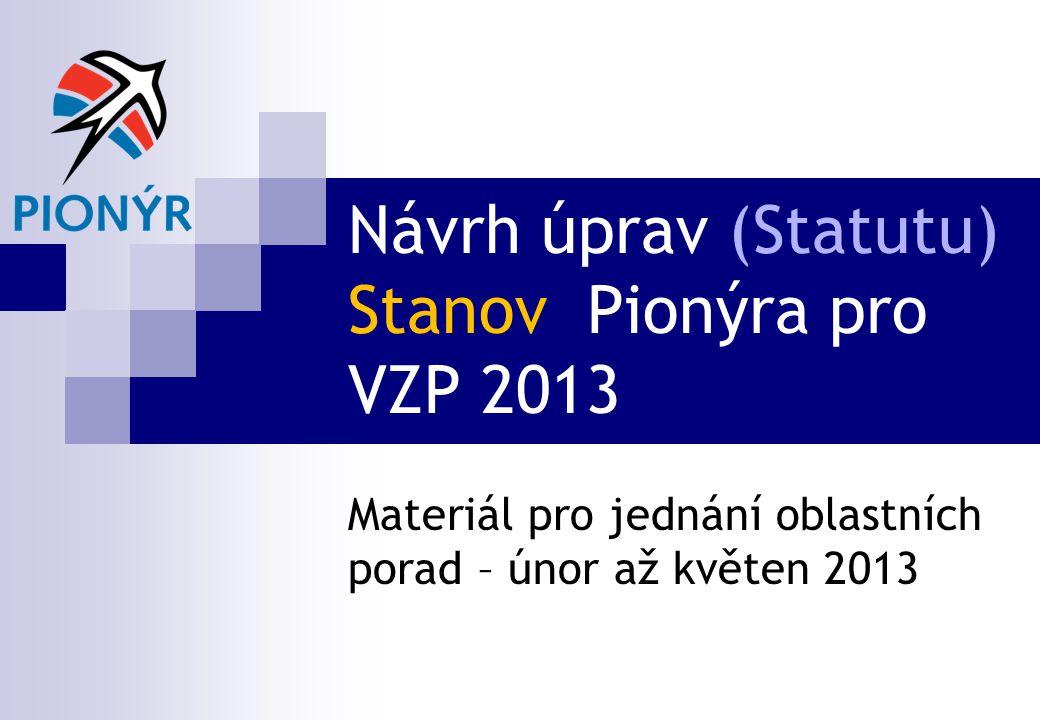 Návrh úprav (Statutu) Stanov Pionýra pro VZP 2013