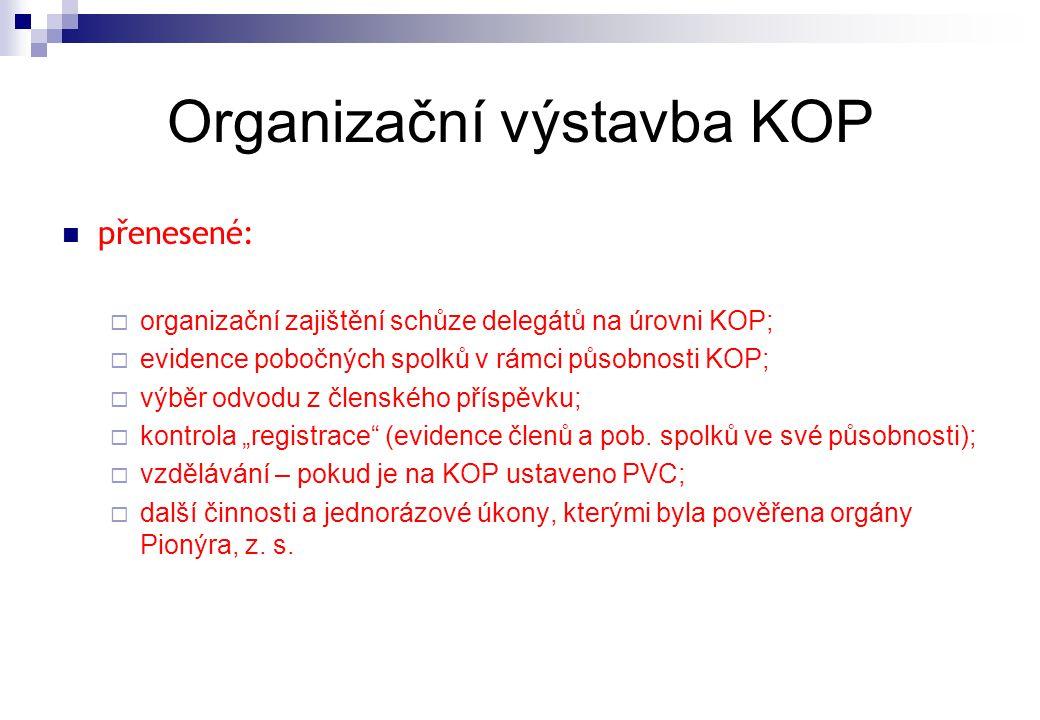 Organizační výstavba KOP