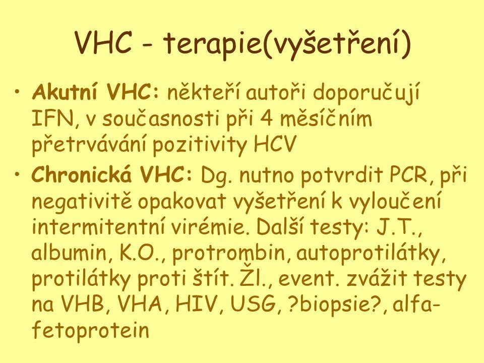 VHC - terapie(vyšetření)