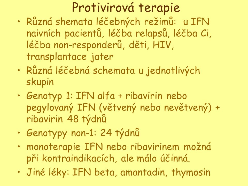 Protivirová terapie