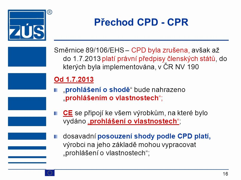 Přechod CPD - CPR