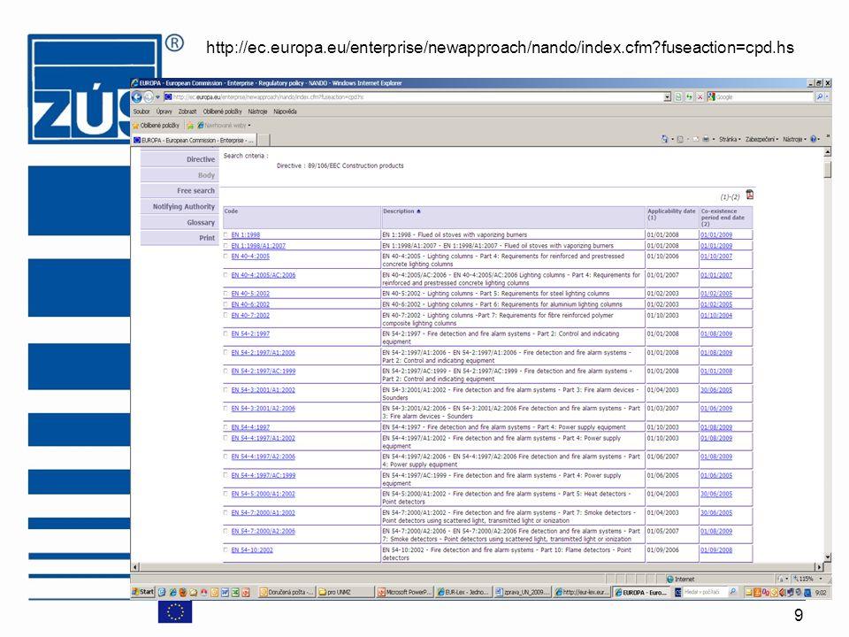 http://ec. europa. eu/enterprise/newapproach/nando/index. cfm