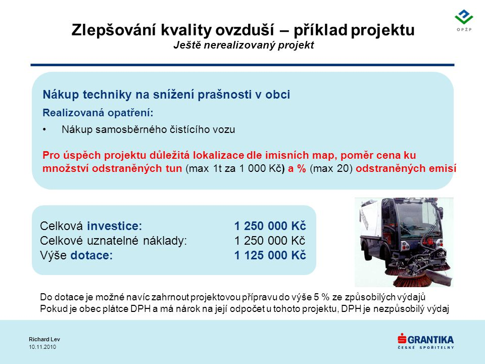 Zlepšování kvality ovzduší – příklad projektu