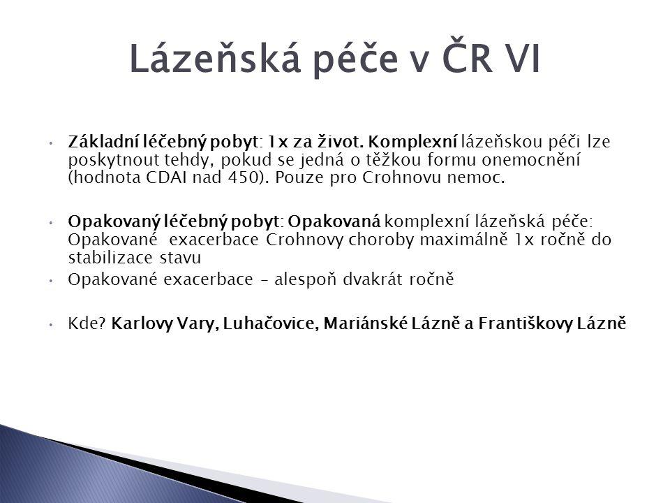 Lázeňská péče v ČR VI