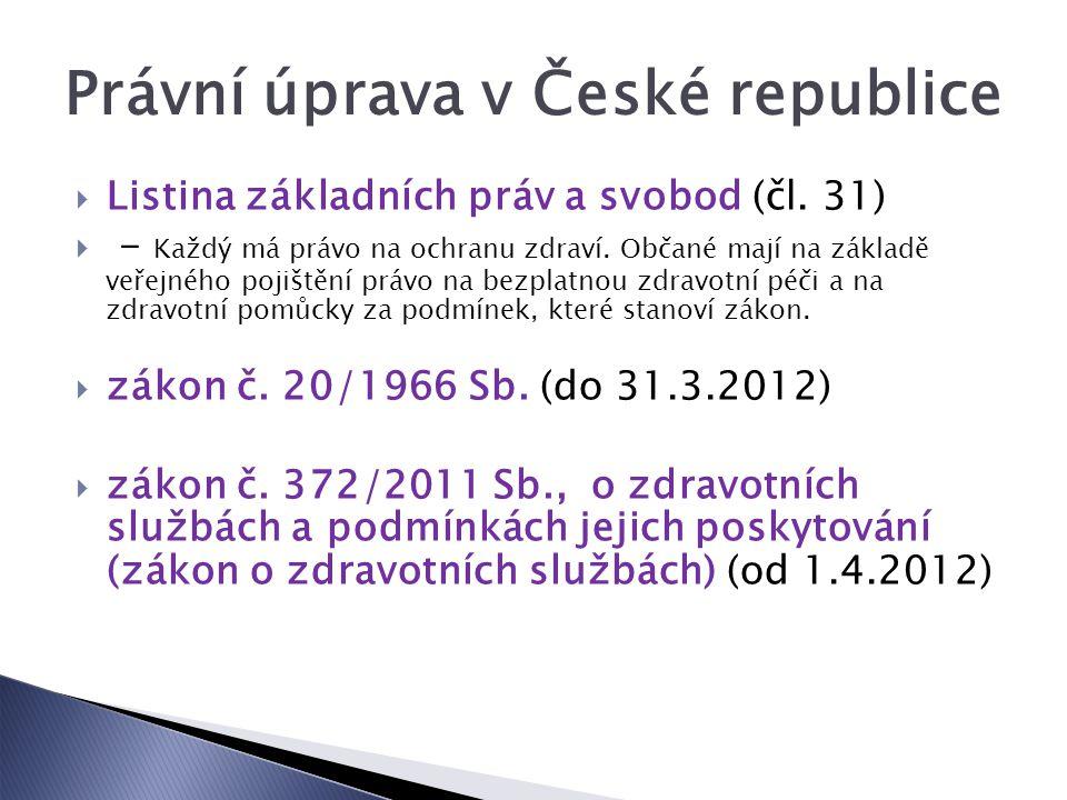 Právní úprava v České republice