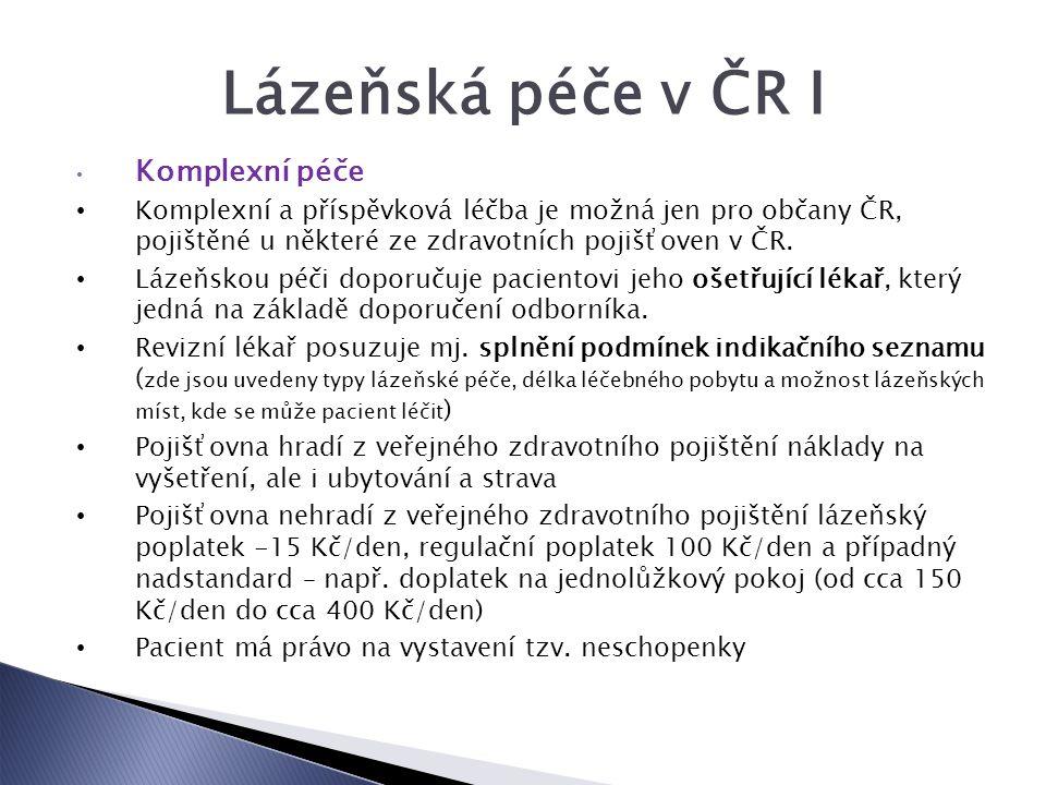 Lázeňská péče v ČR I Komplexní péče