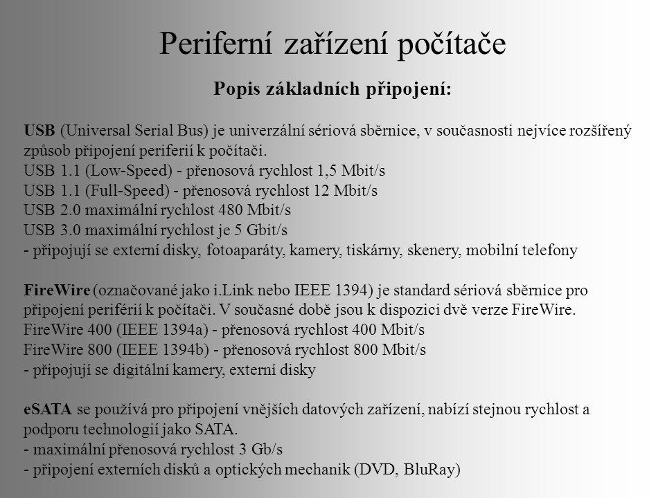 Periferní zařízení počítače