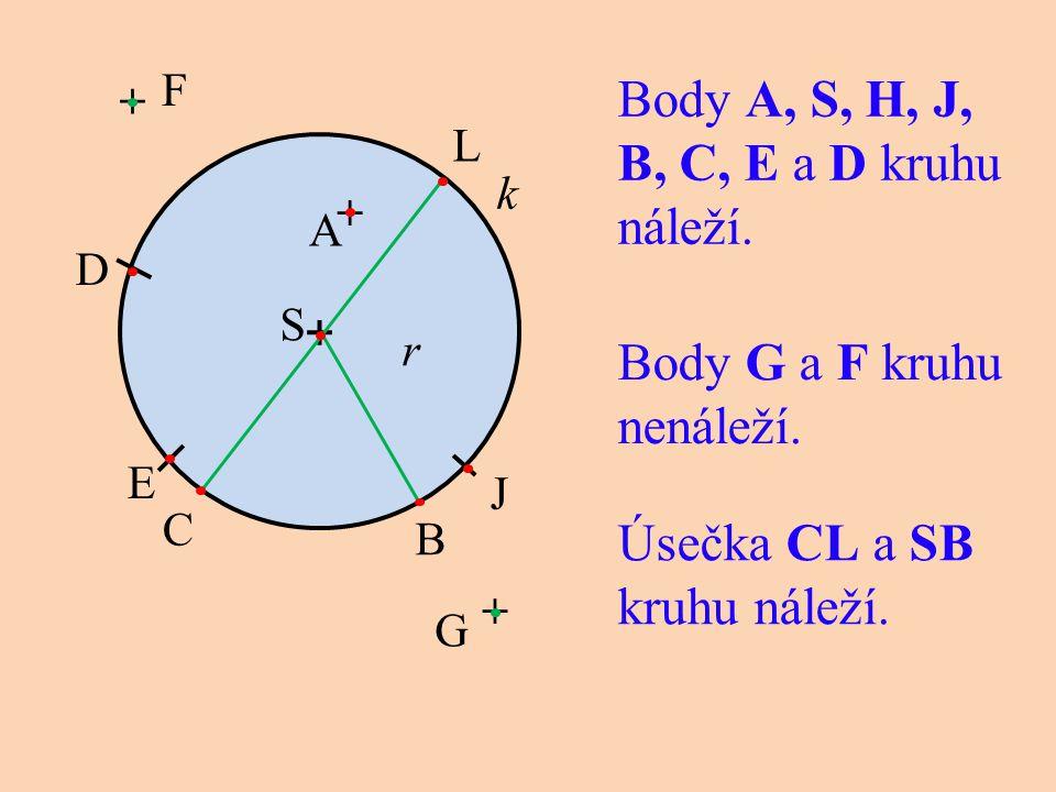 Body G a F kruhu nenáleží.
