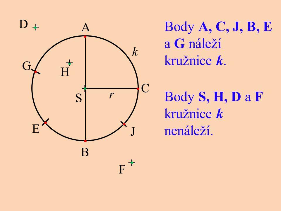 Body A, C, J, B, E a G náleží kružnice k.