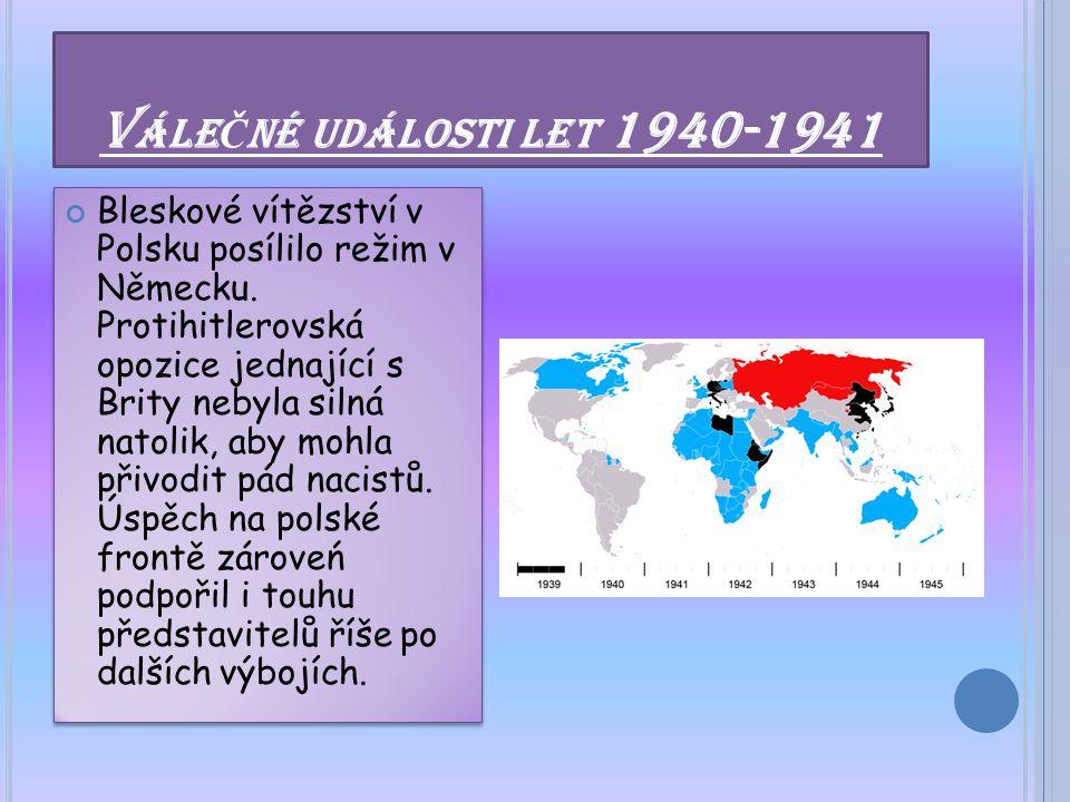 Válečné události let 1940-1941
