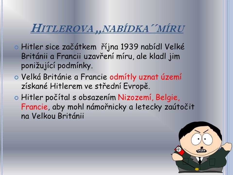 Hitlerova ,,nabídka´´míru