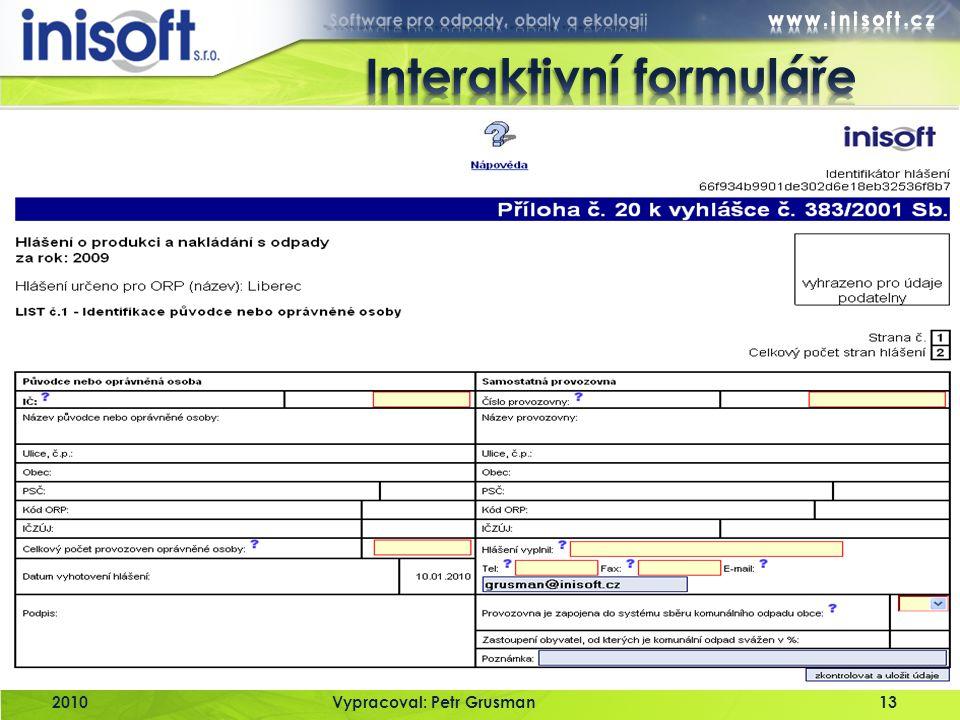 Interaktivní formuláře