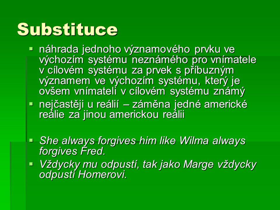Substituce