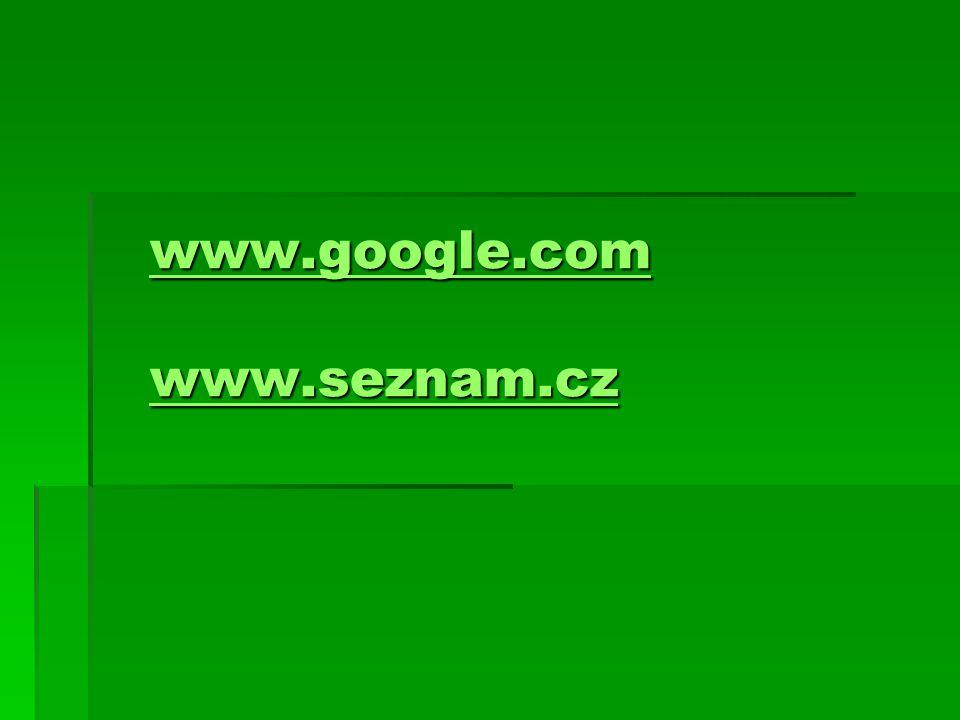 www.google.com www.seznam.cz