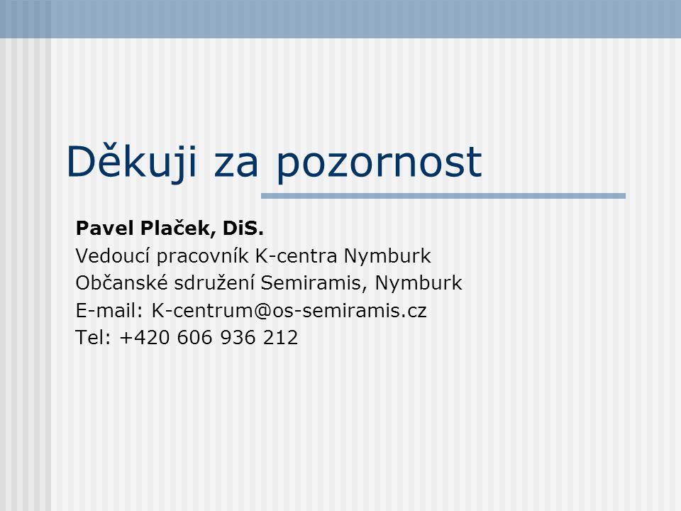 Děkuji za pozornost Pavel Plaček, DiS.