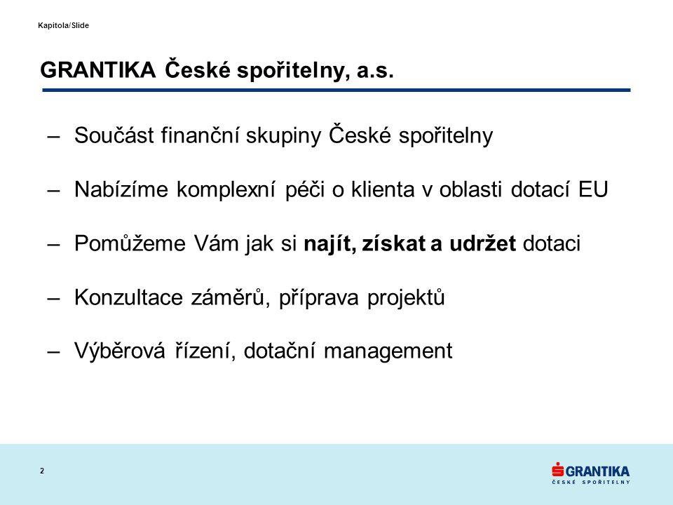 GRANTIKA České spořitelny, a.s.