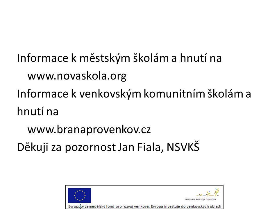 Informace k městským školám a hnutí na www. novaskola