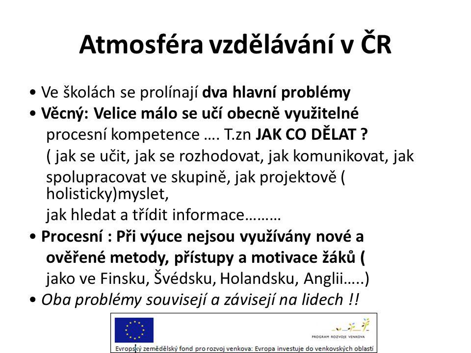 Atmosféra vzdělávání v ČR