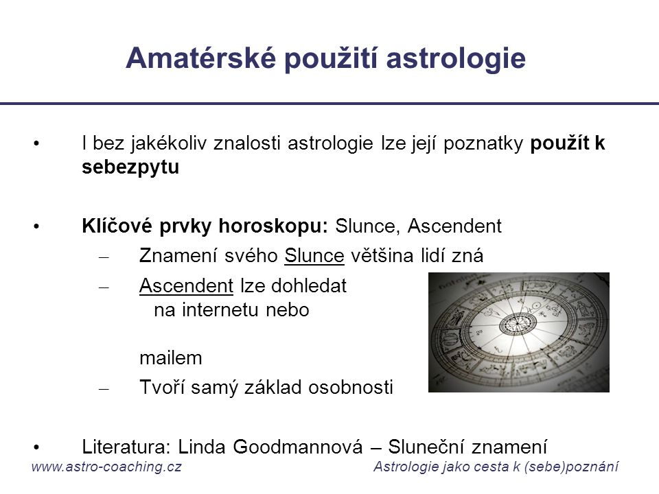 Amatérské použití astrologie