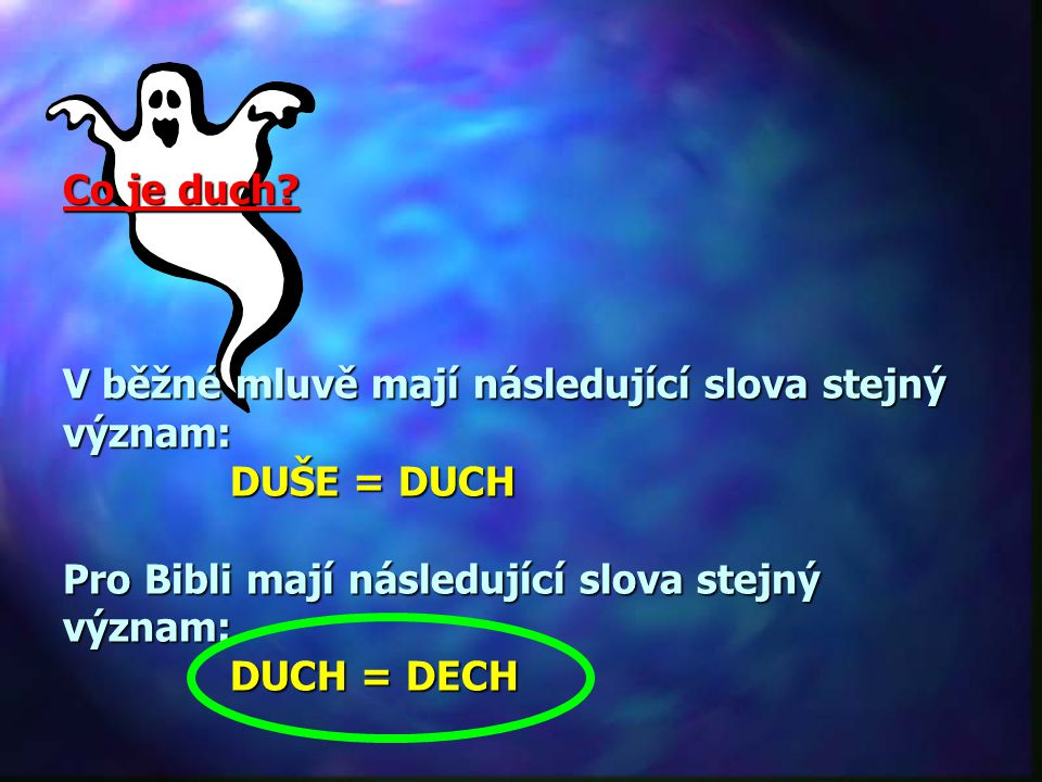 Co je duch.