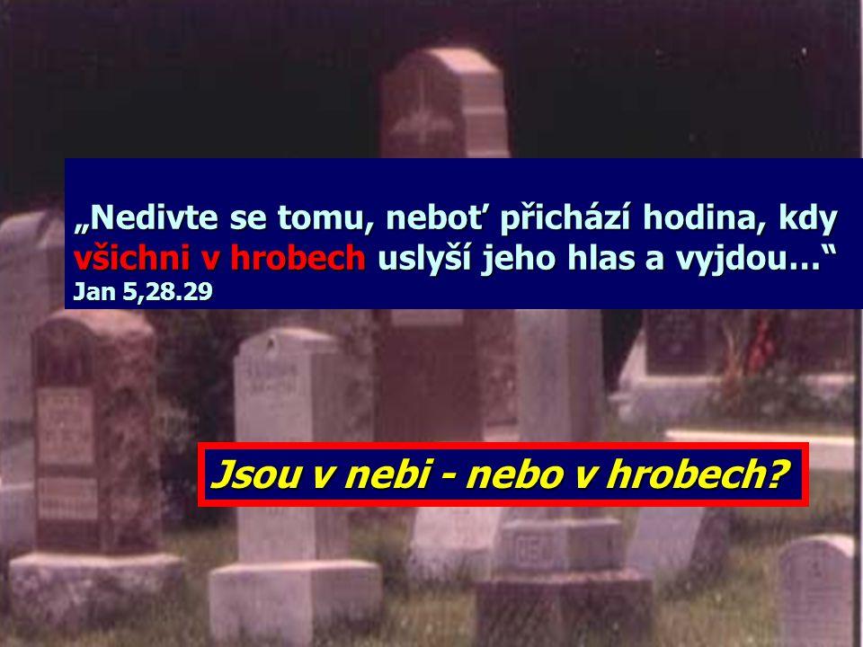 Jsou v nebi - nebo v hrobech