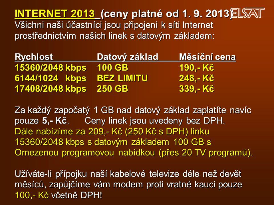 INTERNET 2013 (ceny platné od 1. 9