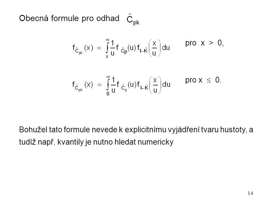 Obecná formule pro odhad