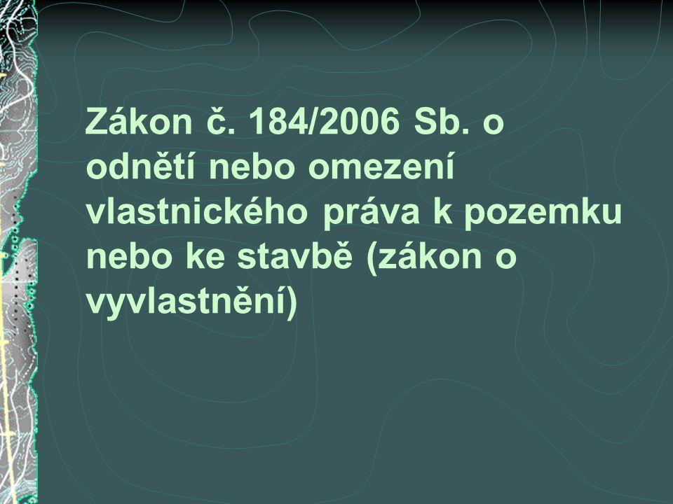 Zákon č. 184/2006 Sb.