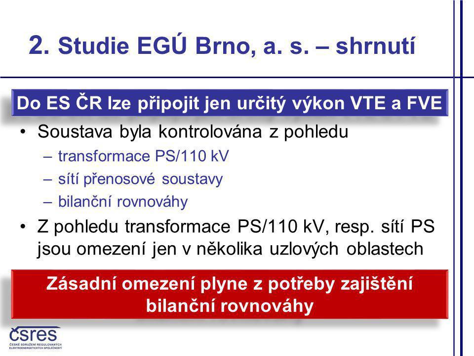 2. Studie EGÚ Brno, a. s. – shrnutí