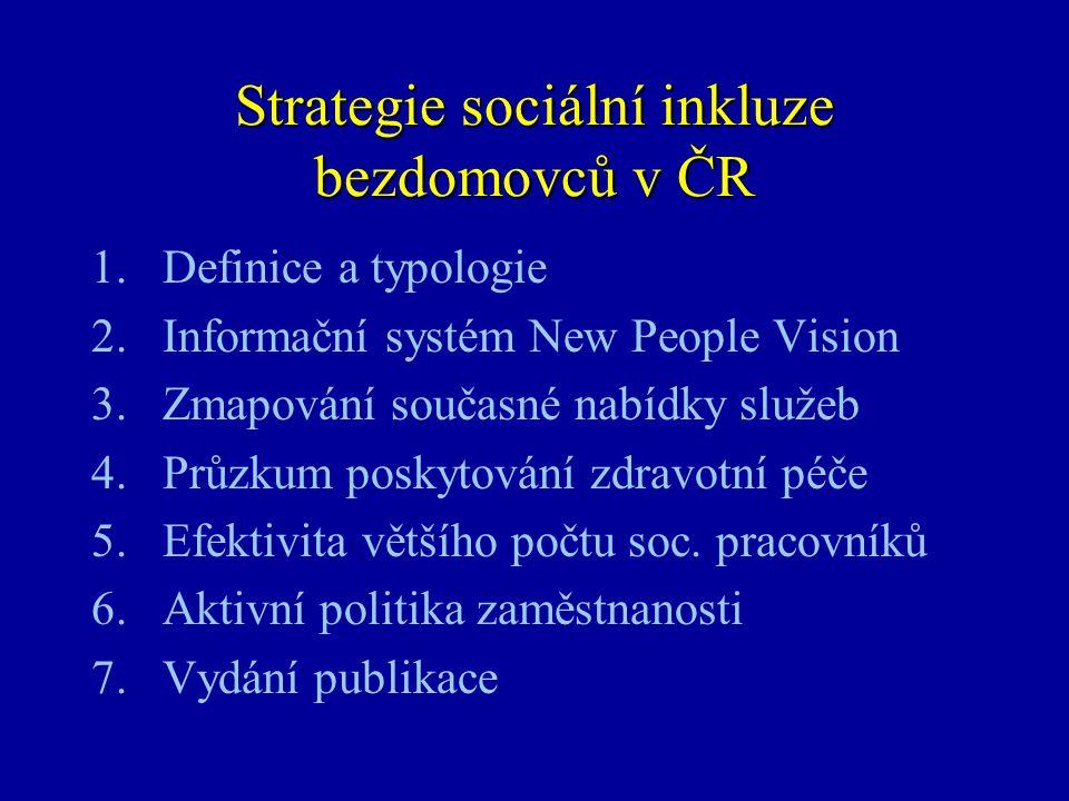 Strategie sociální inkluze bezdomovců v ČR