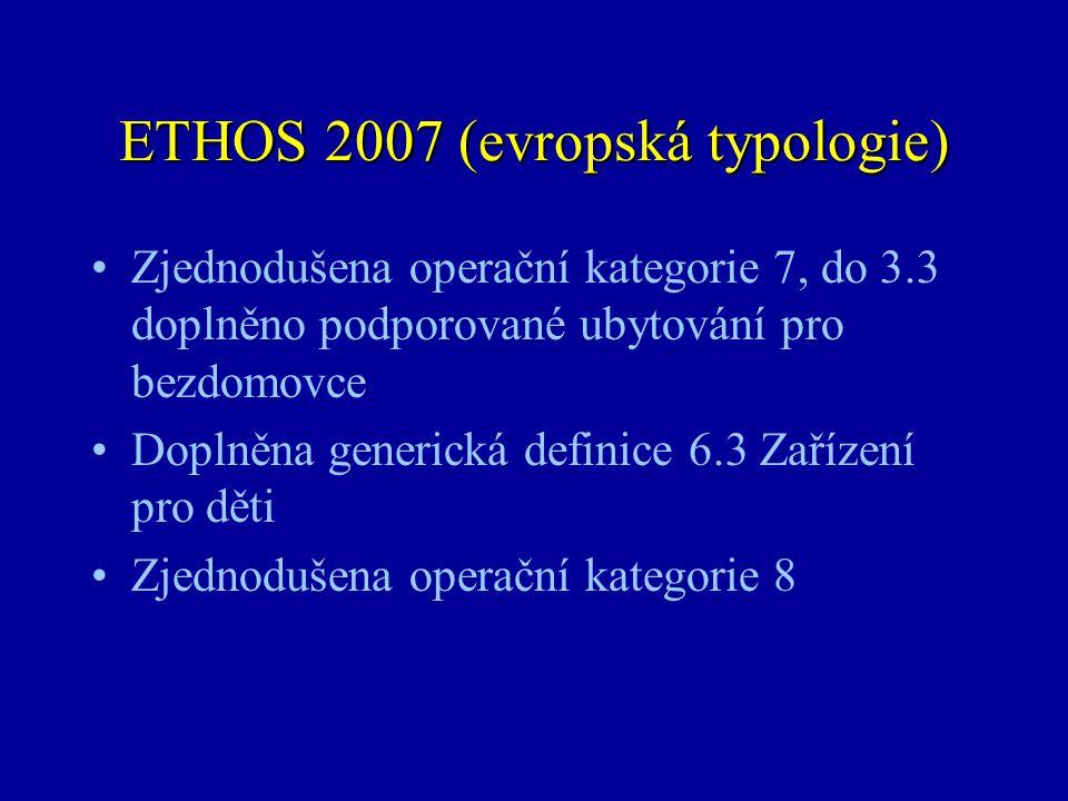 ETHOS 2007 (evropská typologie)