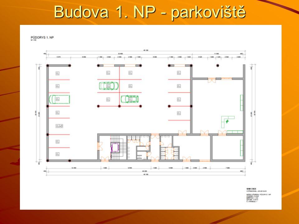Budova 1. NP - parkoviště
