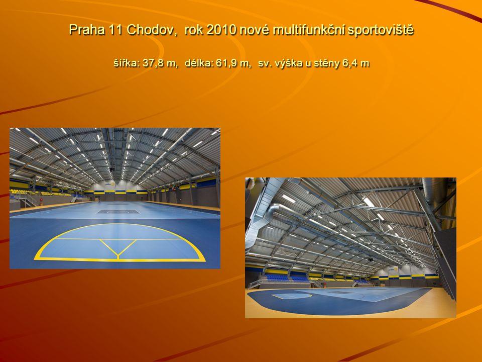 Praha 11 Chodov, rok 2010 nové multifunkční sportoviště šířka: 37,8 m, délka: 61,9 m, sv.